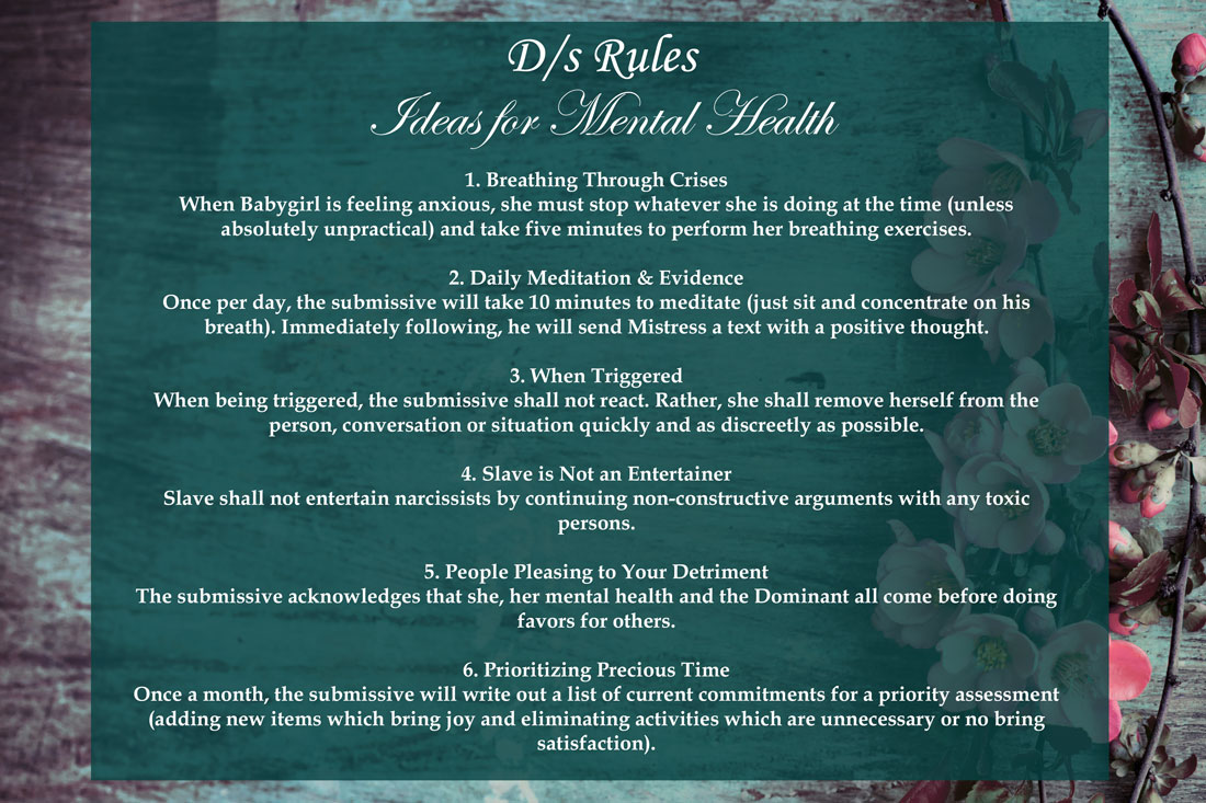 BDSM Rules for Mental Health