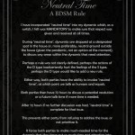 BDSM Rule for Neutral Time Conflict Resolution