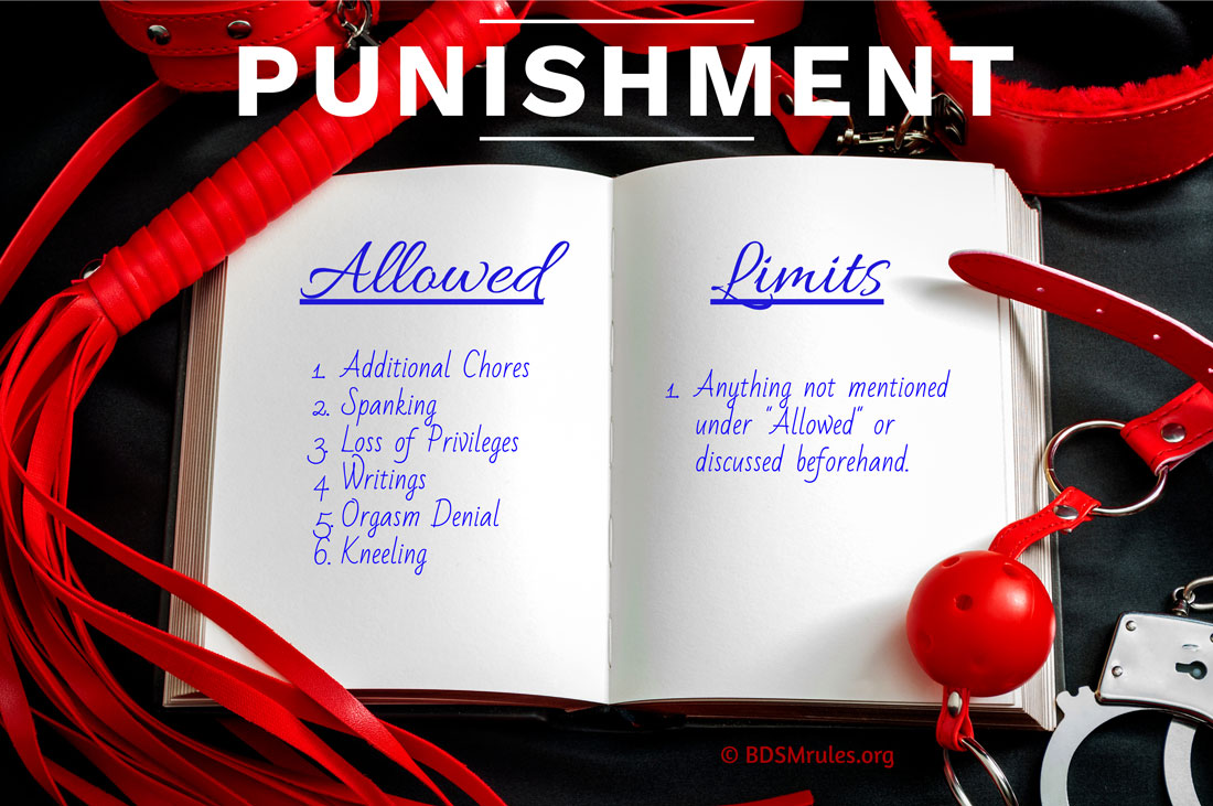 BDSM Rules List of Allowable Punishments and Limits