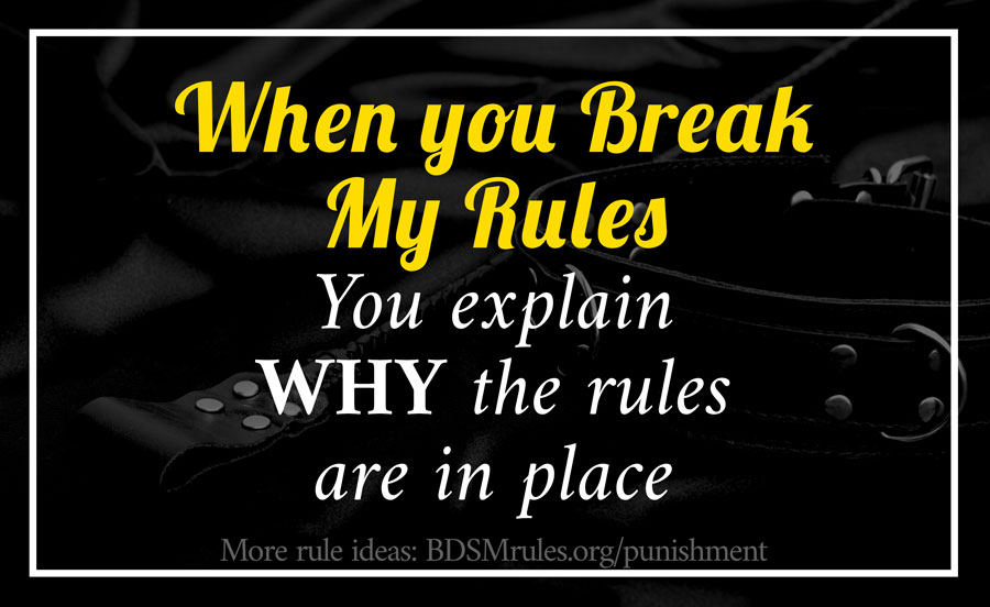 BDSM Rule Punishment Alternative