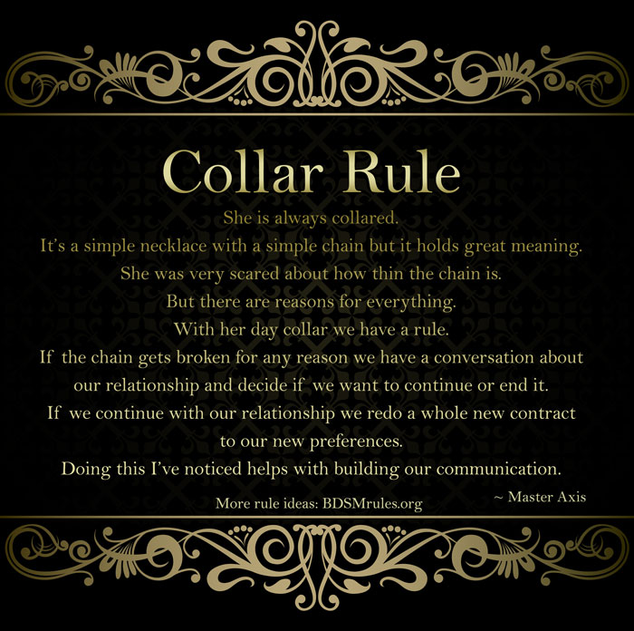 BDSM Collar Rule Master Slave